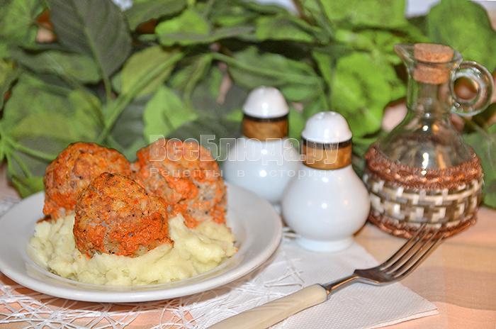 Рецепт тефтелей в томатном соусе с кефиром