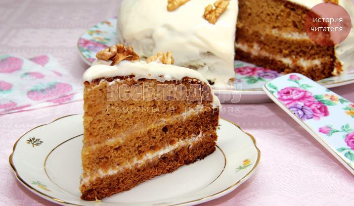 Торт со смородиной негр