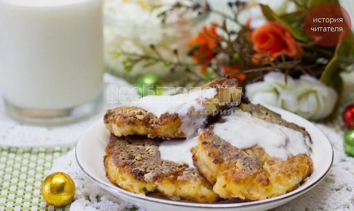 Бабушкины сырники в духовке со сметаной