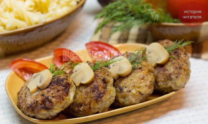 Мясные котлеты с капустой и картошкой