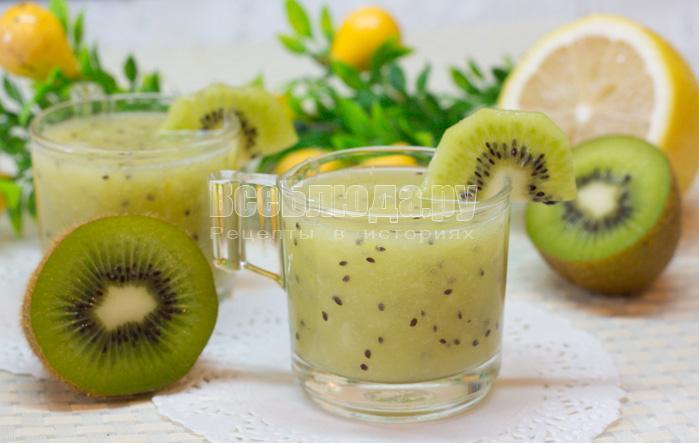 Жиросжигающий коктейль из киви и лимона