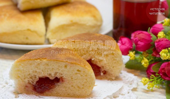Дрожжевые булочки с вареньем
