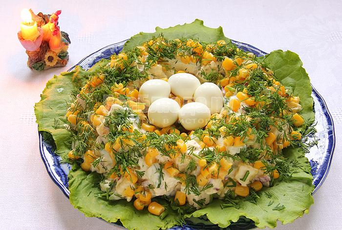 Салаты рецепты с яйцами