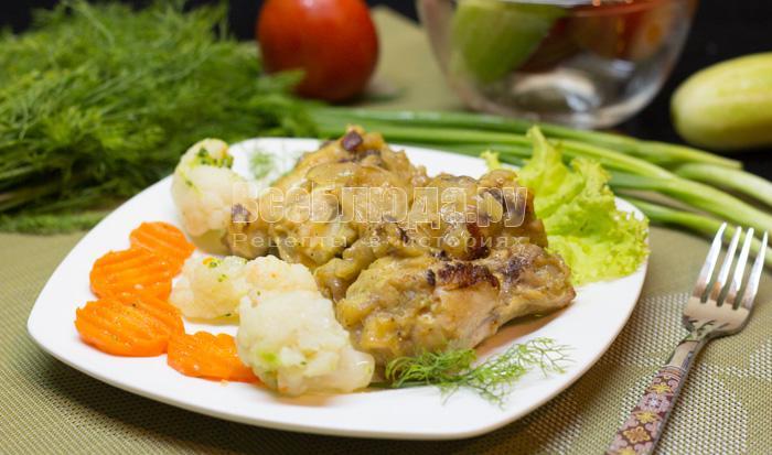 Рецепт курицы в йогуртовом соусе