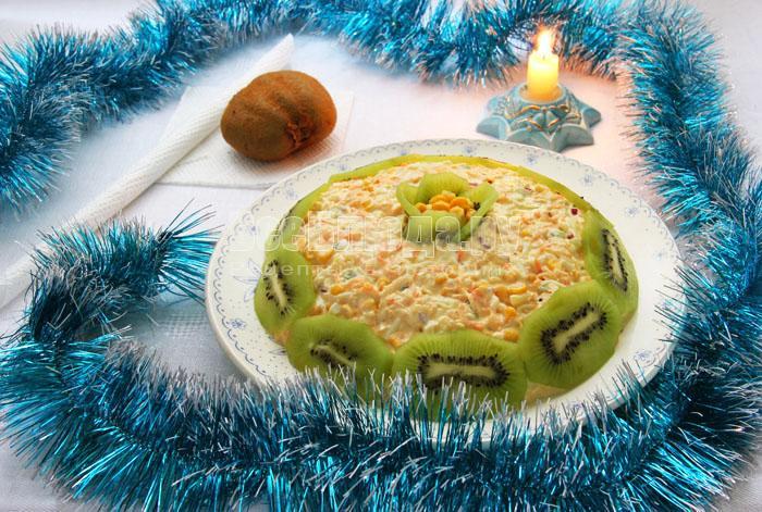рецепт яблоко яйца кукуруза салат