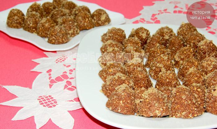 Трюфели из печенья с ореховой крошкой