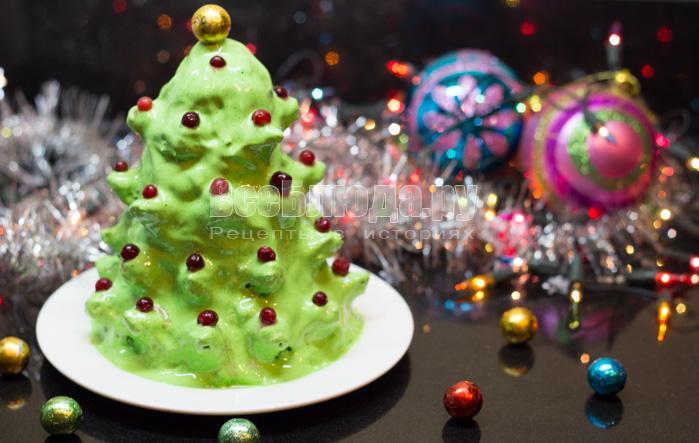 Торт Ёлочка на новогодний стол (3D объем)
