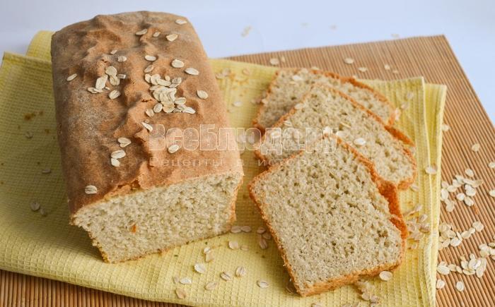 Хлеб овсяный Кирпичик в хлебопечке