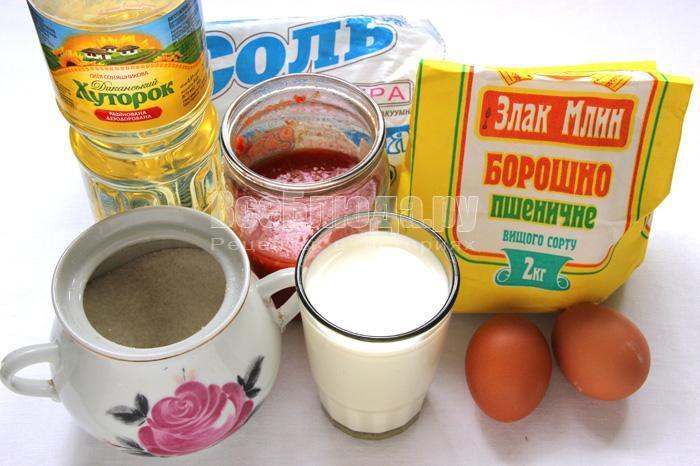 продукты для блинов на томатном соке