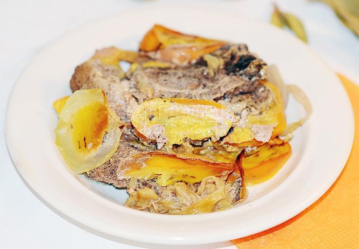 рецепт свинины с хурмой