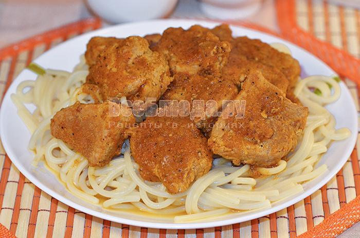 рецепт свинины с подливой