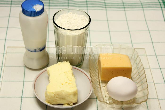 ингредиенты для крекеров с сыром