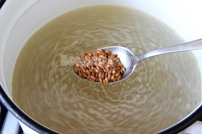 высыпала зерна в кастрюлю