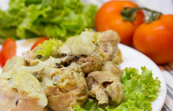 как приготовить курицу в сметане