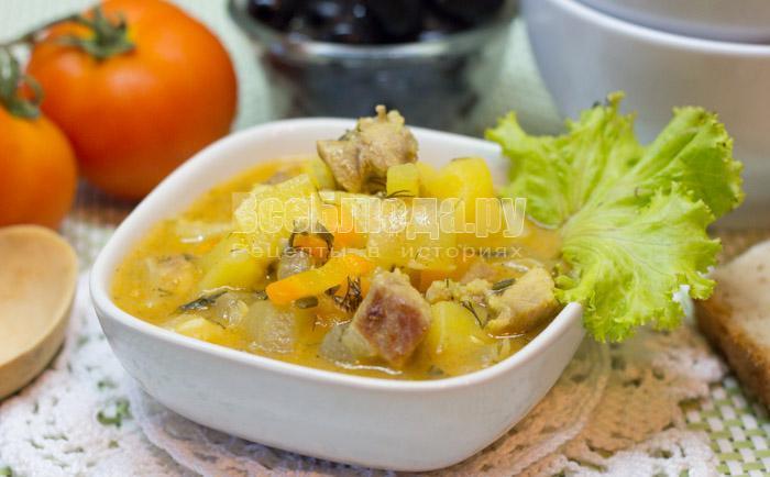 рецепт картошки с кабачками