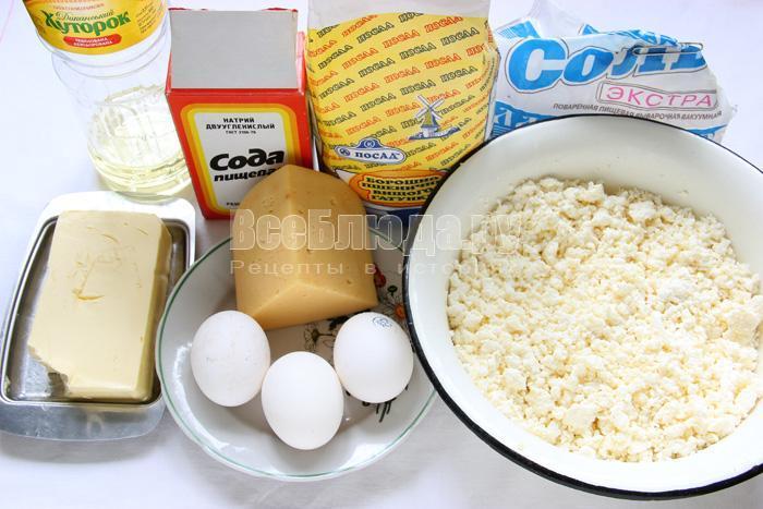 продукты для сырно творожного пирога