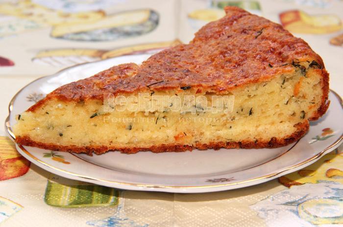 сырно творожный пирог
