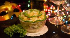 Рецепт салата с семгой слабосоленой, Зеленая Роза