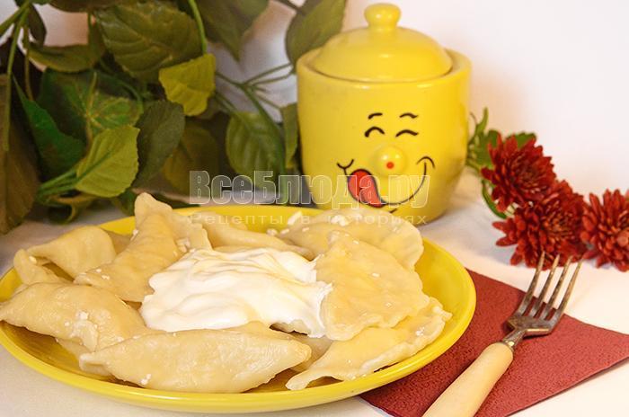 рецепт вареников с сыром
