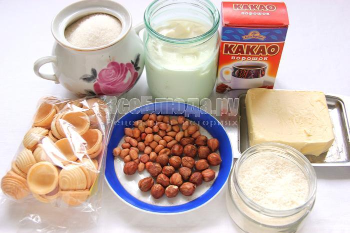 продукты для конфет с орехами