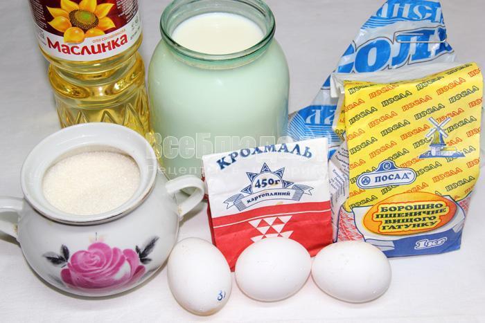 продукты для блинов на крахмале