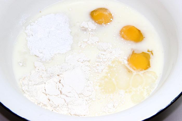 Тонкие, не рвущиеся блины на крахмале (по рецепту Альбины)