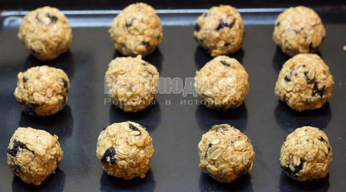 скатать печенье