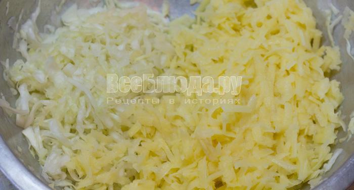 Фарш капуста картошка рецепт с пошагово