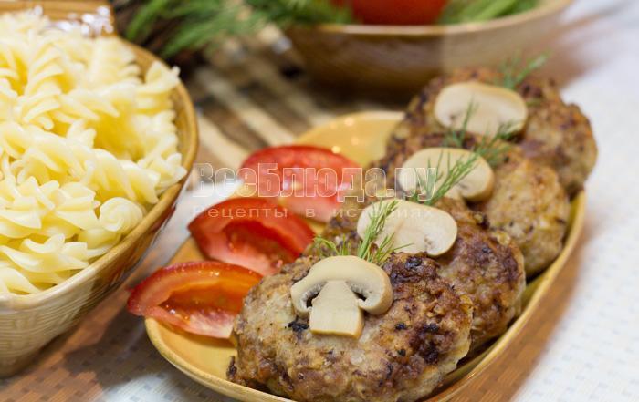 как приготовить мясные котлеты с капустой и картошкой, рецепт с фото