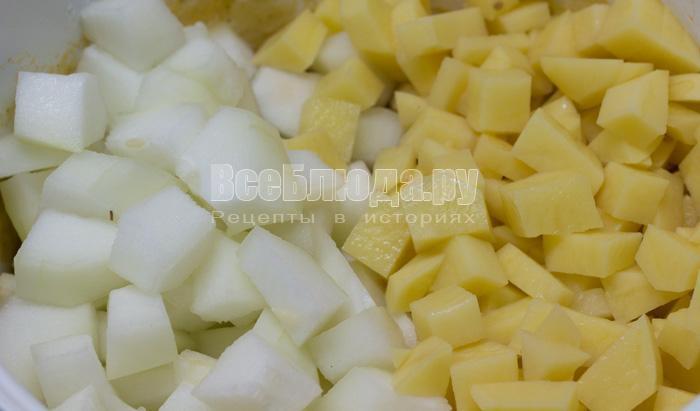 картошка и кабачок