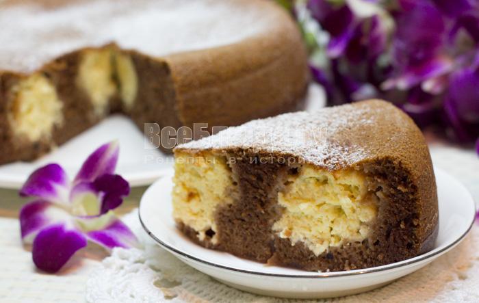 рецепт пирога с шариками из творога