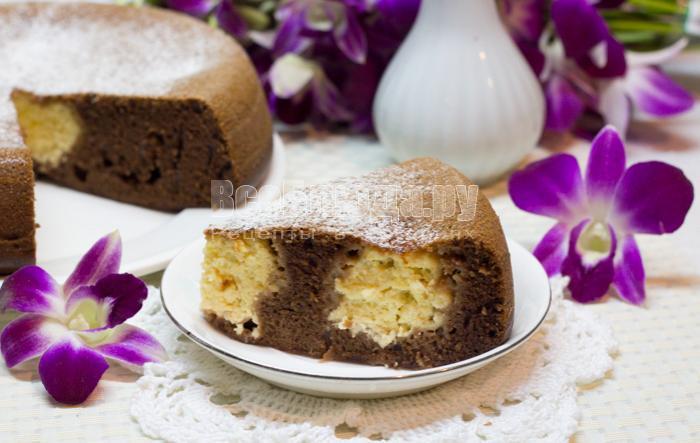 рецепт пирога с творожными шариками