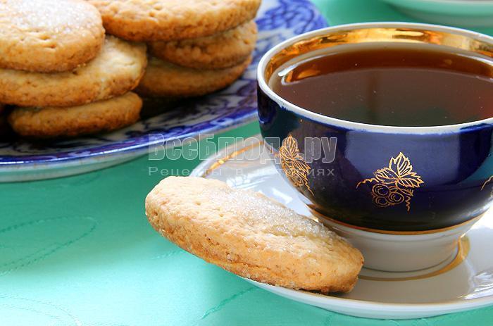вкусное песочное печенье на водке