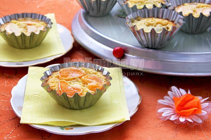 Клафути с фруктами (киви, мандарин, яблоко)