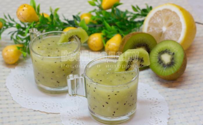 как приготовить коктейль из киви и лимона, рецепт с фото