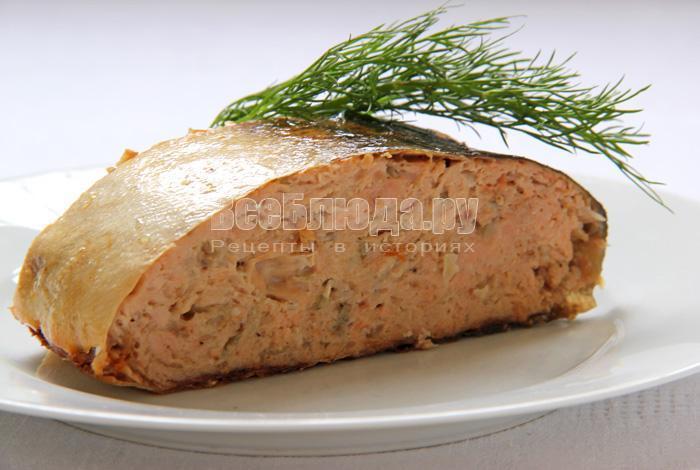 рецепт горбуши фаршированной с салом и луком