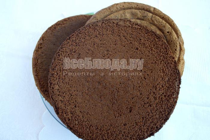три коржа для торта