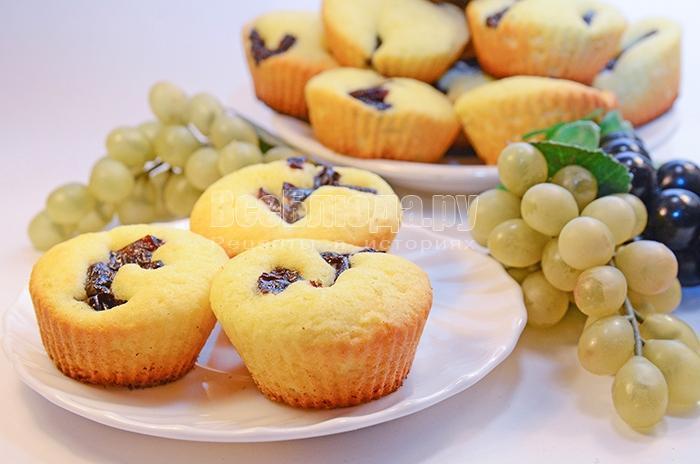рецепт кексов с черносливом