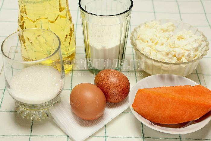 ингредиенты для тыквенных сырников