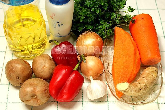 ингредиенты тыквенного супа