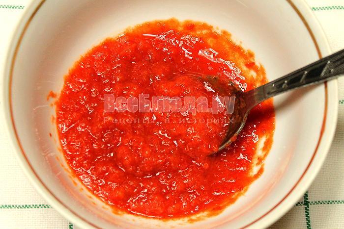 Имбирная смесь с перцем чили и болгарским перцем