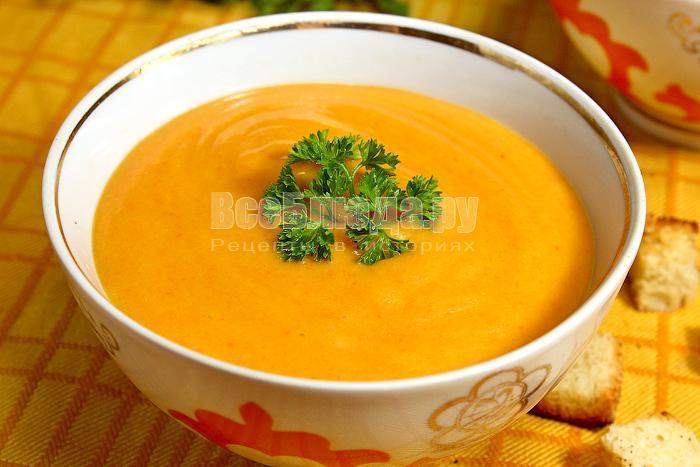 рецепт супа из тыквы