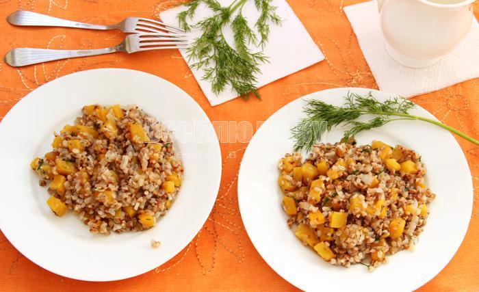 рецепт гречки с тыквой
