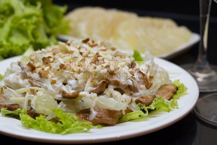 рецепт салата с помело и куриной грудкой