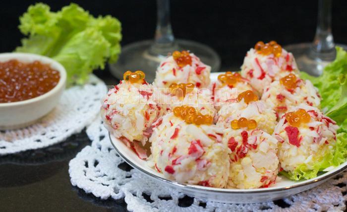 рецепт крабовых палочек с сыром