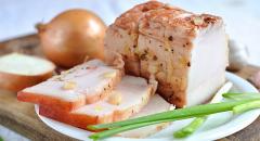 Как приготовить сало в луковой шелухе