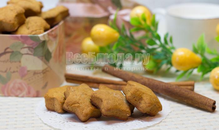 рецепт коричного печенья