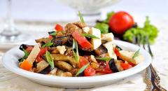 Салат из баклажанов c адыгейским сыром