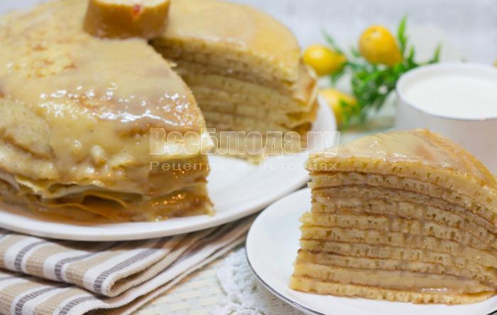 торт из блинов с заварным кремом