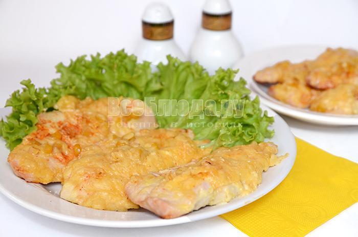 запекла куриное филе с сыром в духовке